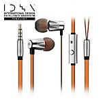 GGMM alauda carcasa de metal ligero auriculares in-ear con el mic y olivas deportivos patentados para un ajuste perfecto
