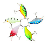 5pcs Crank Fishing Lures 55mm/7g ABS Hard Crank Bait Artificial Fish lure