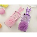 lapin doux boule de poils perceuse avec la corde pour iPhone 6 plus (couleurs assorties)
