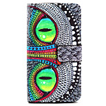 Eye Pattern PU Leather Stand Card Slot Case for LG Bello D337