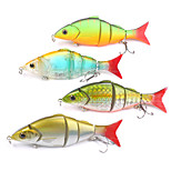 Mizugiwa Jointed Life-like Swimbait Hard Fishing Bass Bait Suspend Lure 21g 120mm pack of 4