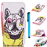 Coloured Drawing PU Leather Mobile Holster Including Anti-dust Plug stylus for iPod Touch 5