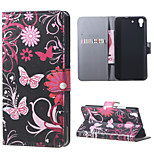 Butterfly Flowers PU Magnetic Leather wallet Flip Stand Case cover for Huawei Honor 4A / Y6