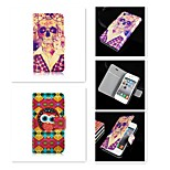 The Skeleton of Cartoon Pattern PU Leather Full Body Case for iPhone 5/5S