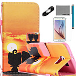 COCO FUN® Ali Lover Pattern PU Leather Case with V8 USB Cable Film and Stylus for Samsung Galaxy S6/S6 EDGE/S6 EDGE PLUS