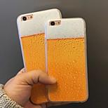cerveza patrón acrílico caso de la contraportada para iPhone6 / 6s más