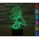 Visual 3D Variation Man Model Mood Atmosphere LED Decoration USB Table Lamp Colorful Gift Night Light