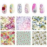 1pcs Floral  Nail Stickers