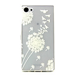 Dandelion  Pattern TPU Relief Back Cover Case for Sony Z5mini