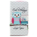 Always love the owl Pattern PU Leather Stand Card Slot Case for LG Bello D337