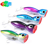 Mizugiwa 1Pcs Wood Lure Top Water Big Game 145g Surface Bull Tuna Lure GT Offshore Popper