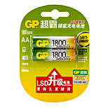 GP 1800mAh  1.2V AA Household Batteries 2pcs