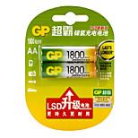 1800mAh gp baterías AA 1.2v hogar 2pcs