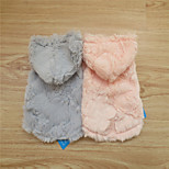 Dog Hoodies - S / M / L - Winter - Pink / Gray - Fashion - Mixed Material