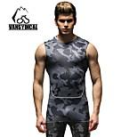 Vansydical Men's Quick Dry Fitness Tops White / Gray / Black / Blue / Dark Blue