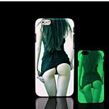 modello di bellezza bagliore sulla cover posteriore in plastica dura scuro per iphone 6 per caso 6s iphone