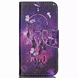 Purple Dreamcatcher Painted PU Phone Case for Wiko Rainbow Up