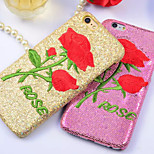 The New Creative Luxury Affixed to the Skin of Roses Embroidery Cases for iPhone 6 Plus/iPhone 6S Plus(Assorted Colors)