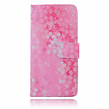 Five Flowers Pattern  PU Leather Material Suction Buckle Card Holder  Phone Case for Huawei P8 Lite