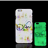 Infinity Pattern Glow in the Dark Hard Plastic Back Cover for iPhone 6 for iPhone 6s Case