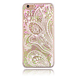 Half Flower Pattern PC Material Stereoscopic Love Quicksand Phone Case for iPhone 6 / 6S