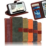 Frosted Leather Purse Stitching Luxury Leather Case With Screen Protector for iPhone 5/5S