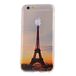 The New Transmission Tower Landscape Pattern Translucent TPU Material Combo Phone Case for iPhone 6/ 6S