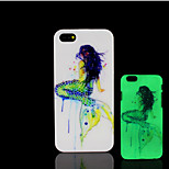 Beauty Pattern Glow in the Dark Hard Plastic Back Cover for iPhone 5 for iPhone 5s Case