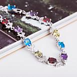 Top Quality AAA Zircon Bracelet Fine Jewelry ,Rainbow Multicolor