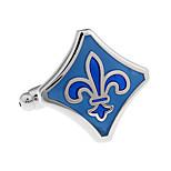 Medieval European classical pattern blue diamond cufflinks French shirt cuff nail