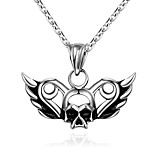 Fashion jewelry pendant necklaces Maya Punk Stainless Steel necklace for men Skull pendant GMYN008