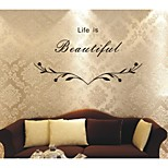DIY Wall Stickers Wall Decals, Life is Baautiful PVC Wall Stickers