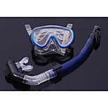 Full Dry Snorkel Goggles Breathing Tube Suit Snorkeling Equipment Pvc Glass(Random Colors)