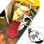 Altri accessori Ispirato da Un uomo con un pugno Cosplay Anime Accessori Cosplay Portachiavi Rosso / Argento Lega Uomo