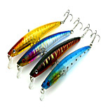 1 pcs Minnow Minnow Orange / Yellow / RoyalBlue / Blue 11.2 g Ounce mm inch,Hard Plastic Bait Casting