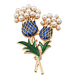 Fashion Women Trendy Pearl Set Enamel Pineapple Brooch