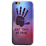 Black Palm Black Edging Soft TPU Phone Case for iPhone 6/6S