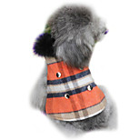 Dog Coat Red Winter Plaid/Check Fashion