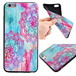 Color Diagonal Flower Pattern Black TPU Soft Case Phone Case for iPhone 6 Plus/6S Plus
