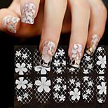 1-Autocollants 3D pour ongles / Autre décorations-Doigt- enFleur / Abstrait / Mariage-15*7.5