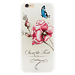 Flower beauty butterfly drunk diamond phone shell painted reliefs apply for iPhone6 puls|6s puls