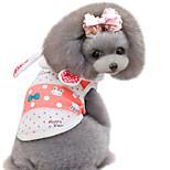 Dog Hoodie Pink Spring/Fall Polka Dots / Cartoon Fashion