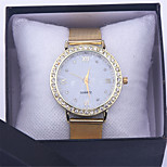 relogio feminino diamond bracelet watch women dress quartz watches rhinestone golden stainless mesh band
