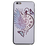 Watch Butterfly Pattern Black TPU Soft Case Phone Case for iPhone 6/6S