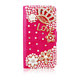 Delicate Crown Pattern PU Leather Full Body Case for iPhone 5/5S