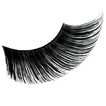 Stage Artistic Exaggeration Handmade Extended Black Medium length Swallow Tail  False Eyelashes  For Party Halloween