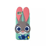 Judy The Rabbit 3D Cartoon Silicone Soft Back Case For iPhone 6 Plus/6s Plus