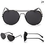 Sunglasses Women's Retro/Vintage / Fashion Round Black / Silver / Gold Sunglasses Full-Rim
