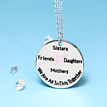 Letter Mother Daughter Sister Fashion Necklace