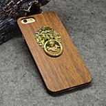 natuurlijke walnotenhout leeuw klopper houder met standaard voor de iPhone 6s / iphone 6